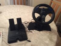 PlayStation 2 steering wheel and foot pedals FREE, STILL AVAILABLE