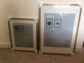 Ikea Ribba picture frames - Oak Colour, 2 sizes, £12 and £5