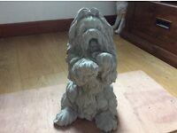 Concrete garden Lhasa apso dog ornament