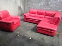 Leather corner suite + electric recliner armchair