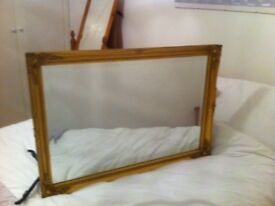 Gold Effect Wall Mirror