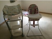 Baby chair and bath as new