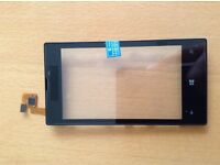 New genuine Nokia Lumia 520 touch screen digitizer glass lens with frame