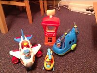 HappyLand - airport, helicopter and plane bundle