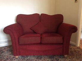For sale 2 seater sofa, chair and foot stool