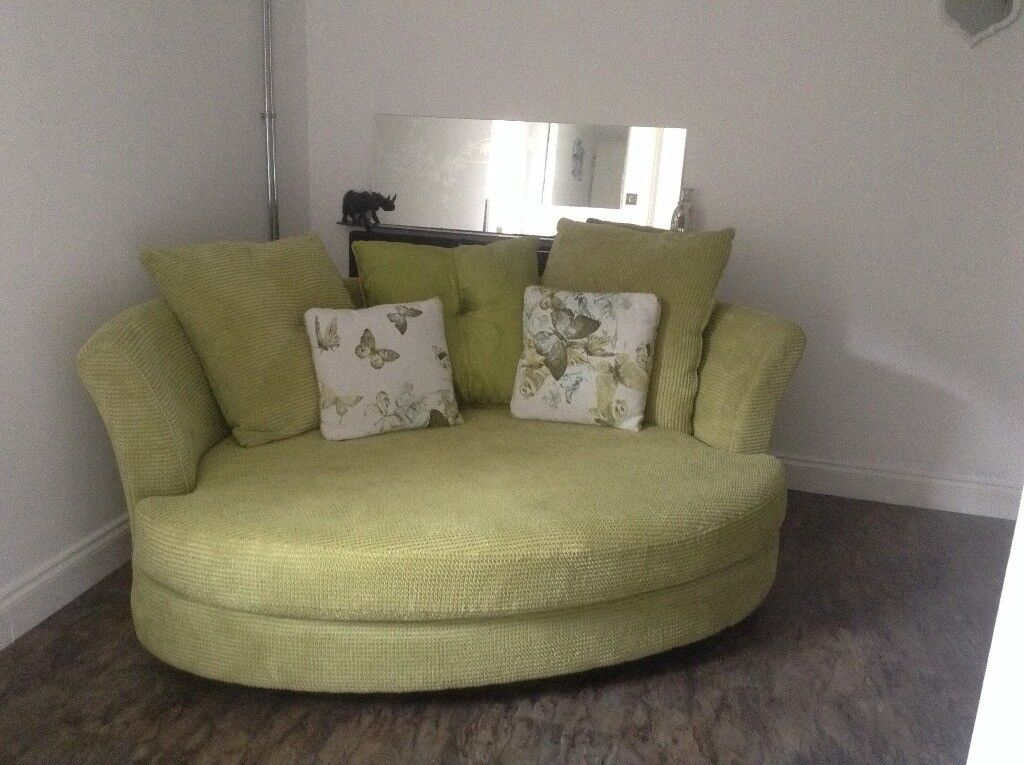 Lime Green Sofa Hardly Used With Room Enough For Two
