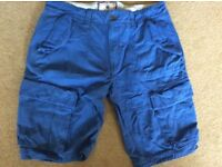 "Fat Face blue shorts 36"" waist"