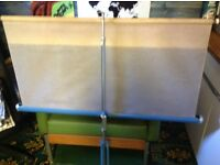 """FOLDING MOVIE SCREEN. 42"""" WIDE . GOOD CONDITION FOR USE WITH MOVIE PROJECTORS ETC"""