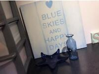 Blue coastal home accessories