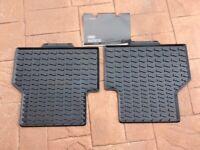Audi Q3 Genuine rear rubber mats...Unused!