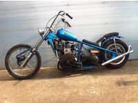 motorcycle projects galore yamaha fazer 1000 fs1e/350lc special reliant engined chopper sanglas 500