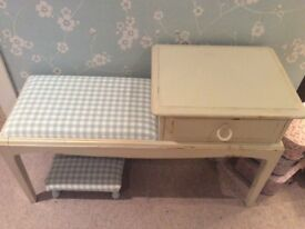 Vintage Table and Stool
