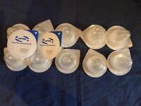12 Sterile latex free teats with standard screw attachment