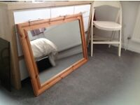 MIRROR PINE 35ins x 25ins VERY GOOD CONDITION