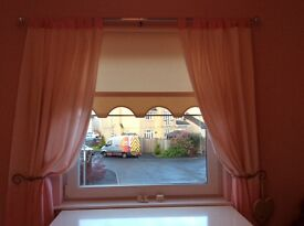 Baby girls bedroom set, curtains, cot bumper, light shade covers lollipop lane
