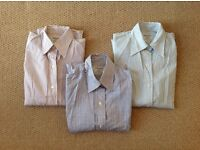 3x Women's T.M. LEWIN Fitted Shirts Size 8