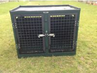 Trans large dog crate with divider