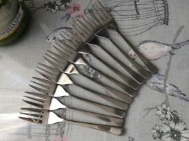 10 Stainless Steel Cake Forks