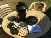 Hozelock Ecoclear 4500 Pond pump and Filter with UV Clarifier never been used