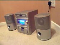 Jvc hifi with Wharfedale speakers