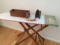 Restored vintage ironing board/table