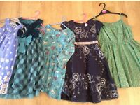 Bundle of girls dresses x5, age 5-6 and 6, some worn once