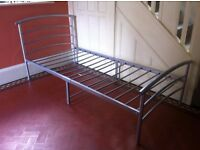 Industrial Minimalistic Metal Single Bed / Can Deliver