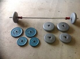 Barbell plus weights