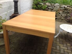 Ikea extendable dining table in mid pine..95x 175