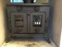 Evergreen Double Fronted Multi Fuel Stove