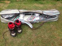 Ladies Burton Snowboard, boots, bindings and board bag