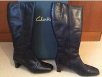 Ladies clarks leather boots