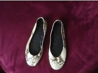Leather female flat shoes