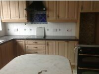 Kitchen units, cooker, hob, extractor