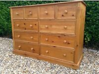 Very Large Pine Chest of Drawers ... Possible Delivery Available