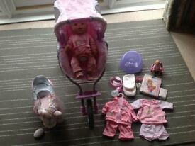 Baby Born, pushchair and accessories