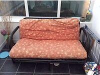 Black Metal Frame Sofa Bed