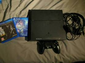 PS4, 1 controller, Last of Us HD Final Fantasy X HD