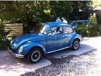 VW Beetle 1972, 1600 engine, new cream headliner and Sunbury fabric seat covers