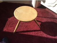 Antique Welsh Milking Stool, light coloured wood, 3 legs, very sturdy and in very good condition