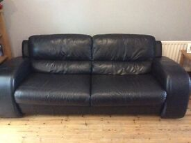 Black leather sofa, must go,