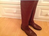 Tan Leather ladies boots