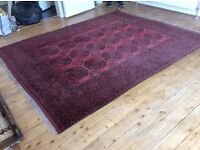 Large Persian style red rug