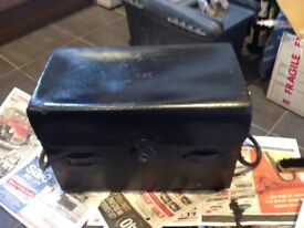 Leather trunk zinc lined