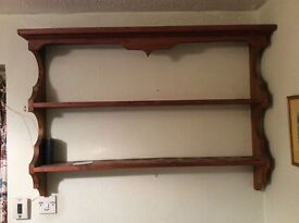 Pine display shelves