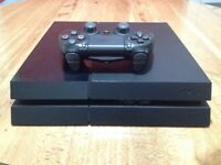 Sony PlayStation 4 – 500GB and controller, wires, game. working condition