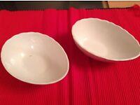 Two White Avocado Dishes