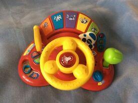V Tech tots steering wheel