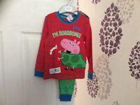 Brand new Boys peppa Pig pyjamas 18-24 mths