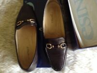 Esino ladies loafer shoes brown leather 38 (5)